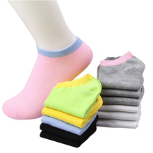 Buy women sock slippers summer cute candy color cotton boat socks ladies ankle socks 10pairs/lot for $6.32 in AliExpress store
