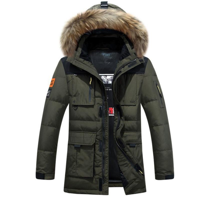 2017 winter jacket men coat duck down jacket with fur hood Removable parka men coat masculine jacket Plus Size