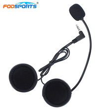 Fodsports 1pcs Bluetooth Intercom Earphone for V6-1200M V4-1200M Motorcycle Bluetooth Helmet Interphone Hard Wire Micro phone(China)