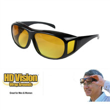 HD Vision Glasses Over Wrap Arounds Sunglasses Men Night Driving UV400 Protective Eyewear Goggles Driver Safety Sun Glasses