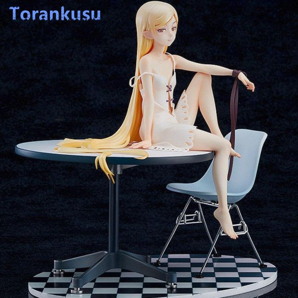 Monogatari Oshino Shinobu Anime Figure Girl 12 Years Old Table Ver. PVC Collectible Action Figures Model Doll Kids Gift Toys PG