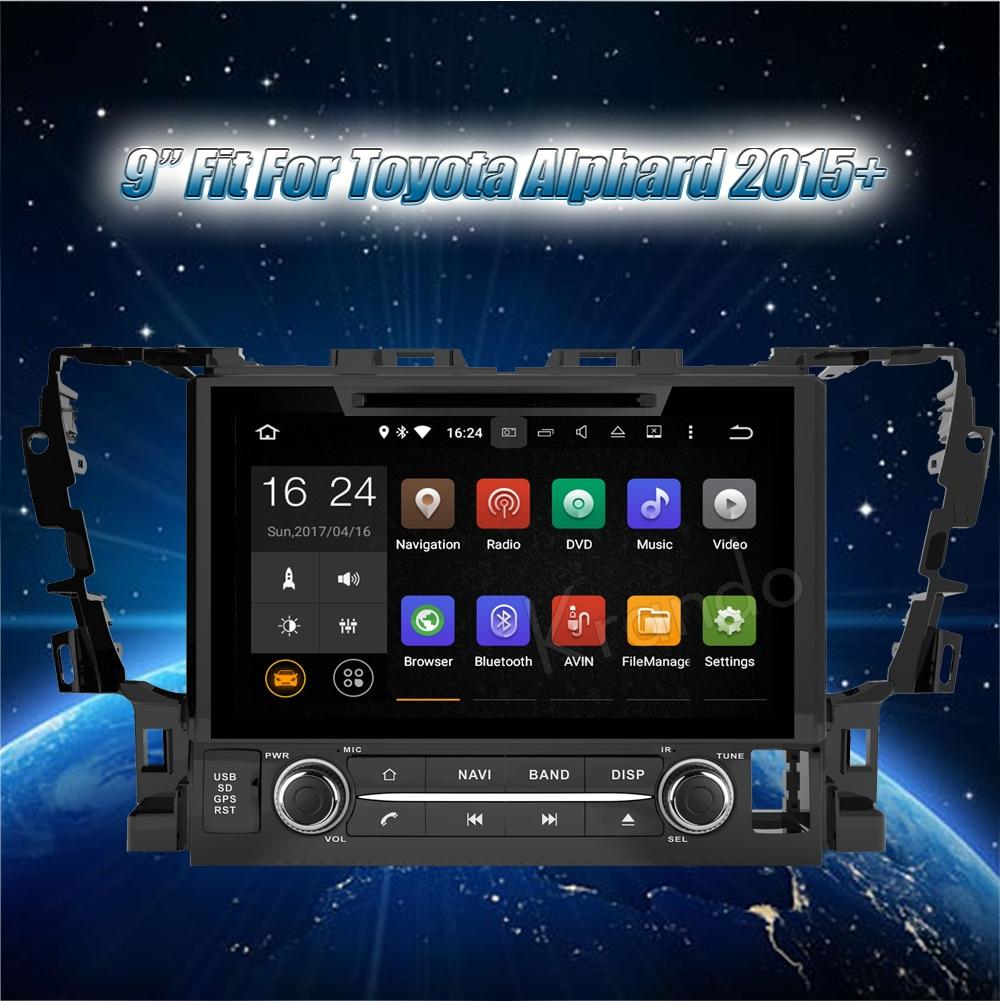 Krando toyota alphard Android car radio gps navigation multimedia system (2)