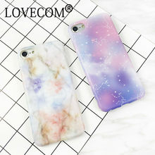 Fashion New Arrival Granite Marble Space Stars Protective Phone Case For Iphone 6 6S Plus Soft IMD Phone Back Cover Coque(China)