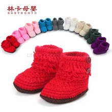 Retail Newborn Unisex Toddler Crochet Shoes Infant Snow Booties Baby Cute Handmade Boots