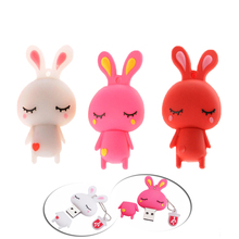Cartoon rabbit 128GB USB Flash Drive USB2.0 Pendrive model 8GB 16GB 32GB 64GB 4GB Pen Drive Memory Flash disk 32 gb usb gift