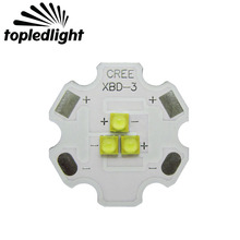 Topledlight Customize Cree XBD XB-D 3LEDS Neture White 4000K White 6000K Led Emitter Lamp Light For DIY Flashlight Torch Light