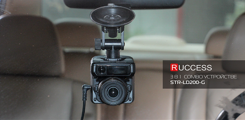1 Ruccess STR-LD200-G 3 in 1 Car DVR Radar Detector Laser With GPS Full HD 1296P 1080P Dual Recorder Dash Camera Front and Rear