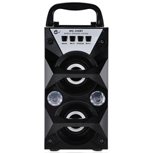 Redmaine MS-208BT Portable High Power Output FM Radio Wireless Bluetooth 2.0 Speakers Support FM LED Shinning Loudspeaker MP3