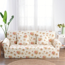 Flowers Printing Couch Sofa Covers 1/2/3/4 seat Corner Sofa Slipcovers For Living Room Universal Stretch Furniture Covers Plush
