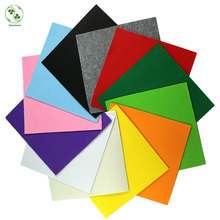 Mix 12 Colors 3MM Thick Felt Feltro 30*30CM Non Woven Felt Fabric Polyester Cloth Felts for Sewing Dolls Crafts(China)