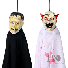 H&D 2PCS Halloween Scary Ghost Haunted House Spooky Creepy Novelty Halloween Decoration Props(China)