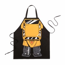 Creative Cartoon Apron Transformers Big Wasp Party Cooking Cafe Waiter Aprons Black Cotton Bibs 78*66cm Wholesale