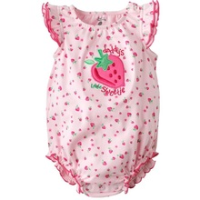 Strawberry Baby girls Bodysuits Pink baby tops Newborn jumpsuit Baby One piece Clothes Toddler Overalls Babywear