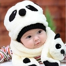 Heat! 2016 New Fashion Cute Baby Animals Wool Hat Baby Boys and Girls Crochet Beret Children Hat + Scarves 2 Sets Free Shipping