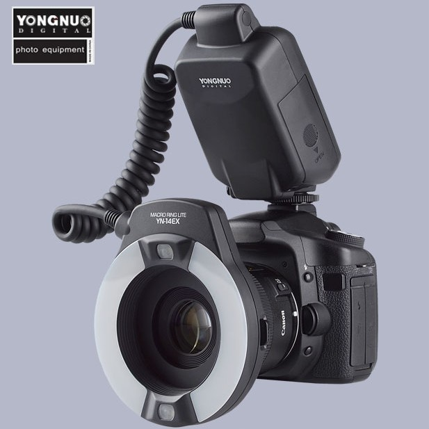 Yongnuo TTL Macro Ring Flash Lighting Light YN-14EX for Canon Cameras as MR-14EX<br><br>Aliexpress