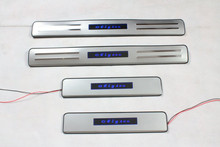 High quality stainless steel LED Scuff Plate/Door Sill for 2011-2012 Citroen Elysee C-Elysee Car styling