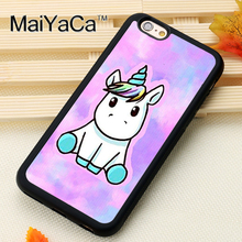 MaiYaCa Lovely Unicorn Cute Pattern Soft Rubber Skin Brand Mobile Phone Cases For iPhone 6 6S Plus 7 Plus 5 5S 5C SE Back Cover(China)