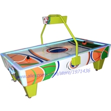 2018 The Latest Design Amusement Equipment Green Air Hockey Table Arcade Game Machine(China)