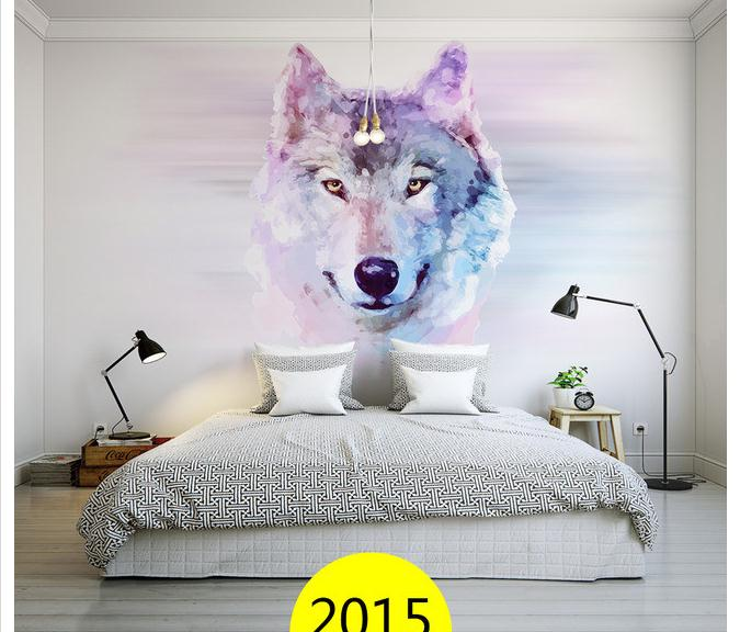3D Photo Wallpaper Custom HD Room Mural Wolf Head 3D Photo HD Painting Sofa TV Background Wall Bedroom Mural Non-Woven Wallpaper<br><br>Aliexpress