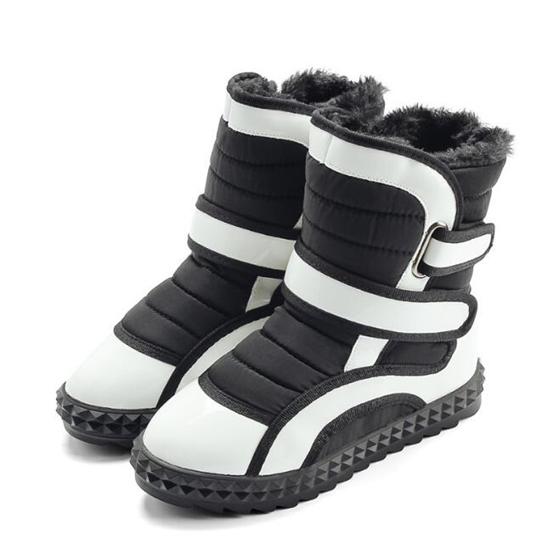 Children boots high quality waterproof girls &amp; boys snow boots fashion hook&amp;loop non-slip kids boots toddler winter shoes<br>