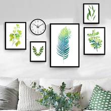 Green Leaf Modern Canvas Painting Art Print Poster Canvas Oil Painting Wall Pictures Home Decor Living Room Decoration Design(China)