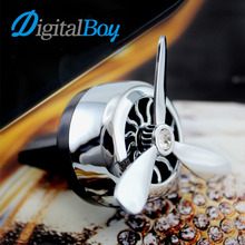 Digitalboy Car Air Conditioner Outlet Vent Clip Mini Fan Aircraft Head Air Freshener Perfume Fragrance Scent inner Aromatherapy(China)