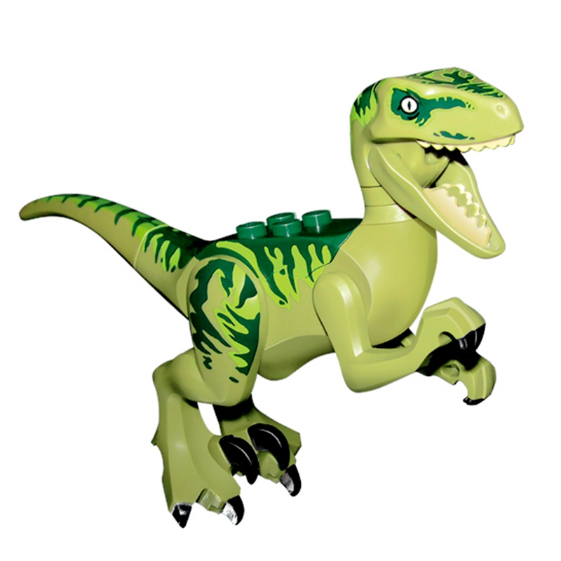 Legoinglys Single jurassic park Velociraptor Charlie Blocks Dinosaurs Echo Dark Green Models & Building Blocks Toys For Children