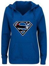 Women's Winter Patriots Fans Hoodies, New Design England Sweatshirts Superman S Logo Picture Print Fashion Tops V-neck Pullover(China)