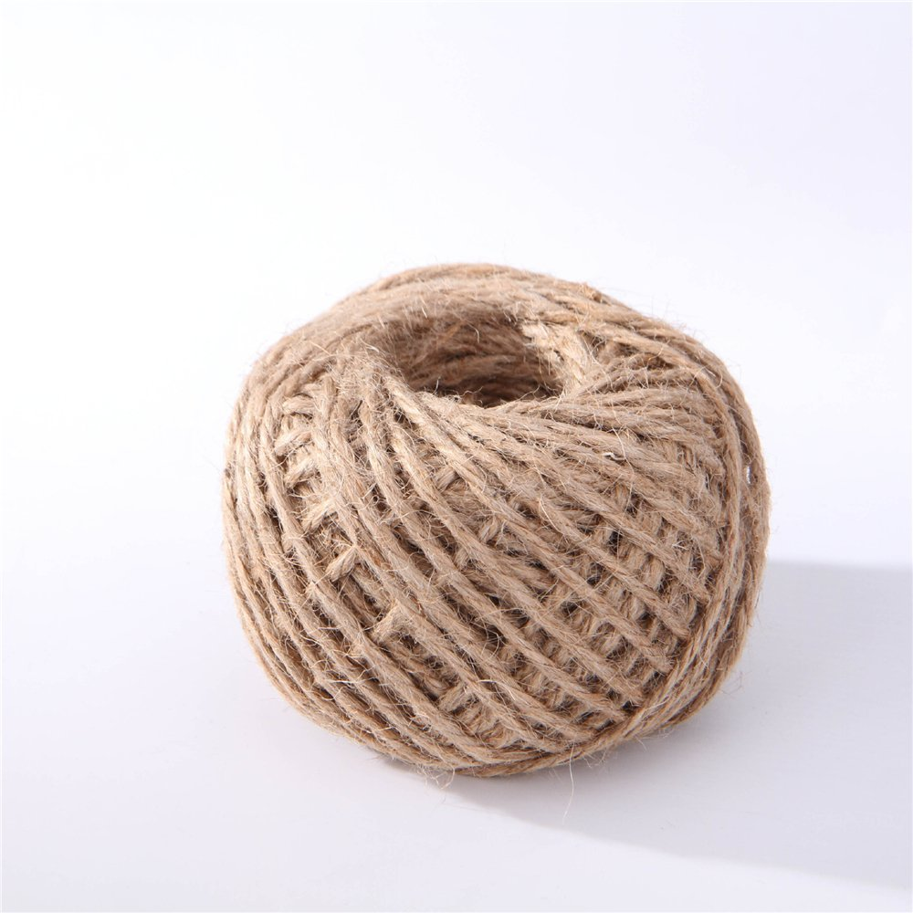3mm 320 Feet Natural Jute Twine Gift Box String Rope Floral Craft Wedding Tags DIY Wrap Decor Supplies @LS(China (Mainland))