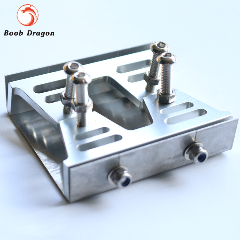 CNC trim tab with plate set (76X19X54mm) for 40 or larger gas rc boat Sliver<br>