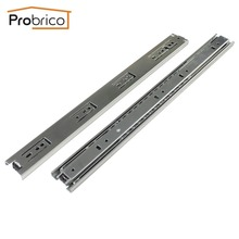 "Probrico 1 Pair 18"" Ball Bearing Slides Kitchen Furniture Drawer Rail Steel Full Extension Guides Glides Heavy Duty DSHH30-18"