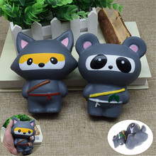 Milk Box/Banana/Cat /Claw/bear Squishy Animal Charms Kawaii Buns Bread Cell Phone Key/Bag Strap Pendant Ninja Panda/Bear/Fox(China)