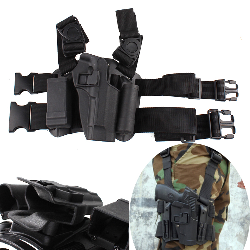 Gun Case Tactical Right Thigh Leg Holster for Beretta 92 96 M9<br>