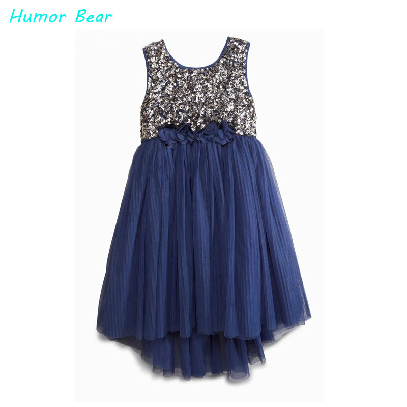 Humor Bear 2016 casual dress fashion girls sequin vest dresses baby girls dress kids brand girls party princess dresses<br>