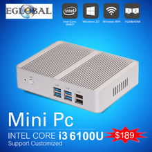 Cheapest Mini PC Windows 10 Barebone Computer Intel Core i3 6100U/5005U 2GHz HD 520/5500 Graphics 4K HTPC wifi HDMI VGA