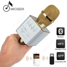 Original MicGeek Q9 Microphone Wireless Portable KTV USB Play Free shipping!