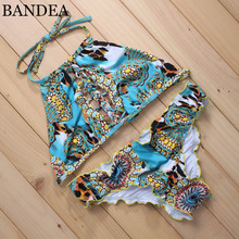 BANDEA Sexy Bikini 2017 Women Swimsuit Push Up Swimwear Female Brazilian Bikini Set Bandeau Summer Beach Swimwear Newest Style(China)