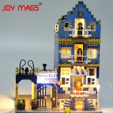JOY MAGS Led Building Block Kit Light Up Kit For Creator Market Street Compatible With Lego 10190 15007 Excluding Building Model(China)