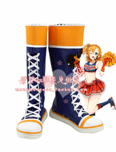 New Custom Made Lovelive! Paradise Live Kousaka Honoka Cheerleader Cosplay Shoes Boots For Halloween Christmas