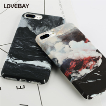 Lovebay Volcanic Snow Mountain Phone Case For iPhone 6 6s Plus 7 7 Plus Hard PC Full Protect Cover Starry Sky Phone Case Bags
