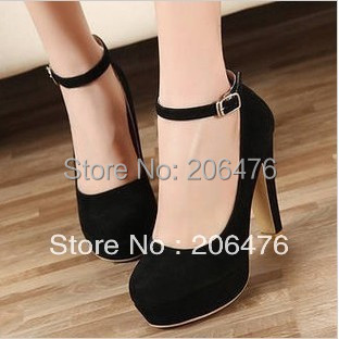 Thick heel high-heeled shoes single shoes 2017 spring and autumn fashion hasp platform t womens shoes fashion<br><br>Aliexpress