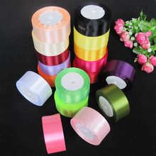 25yards 40mm ribbons for cake Gift Decoration stain ribbions for  DIY Craft Wrapping Supplies Riband fita de cetim   ruban satin