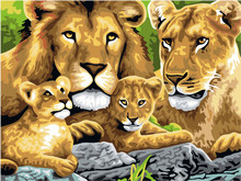 Lion Painting By Numbers On Canvas DIY Unique Digital Home Decor Coloring By Numbers Picture Gift Painting Wall Painted