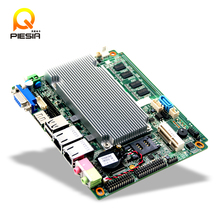 Fanless embedded PC Atom firewall motherboard N2600 with 2Lan,mini industrial firewall barebone with PCI slot