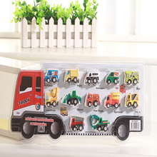 New cartoon suction plate back truck loaded haste children 12 models back car