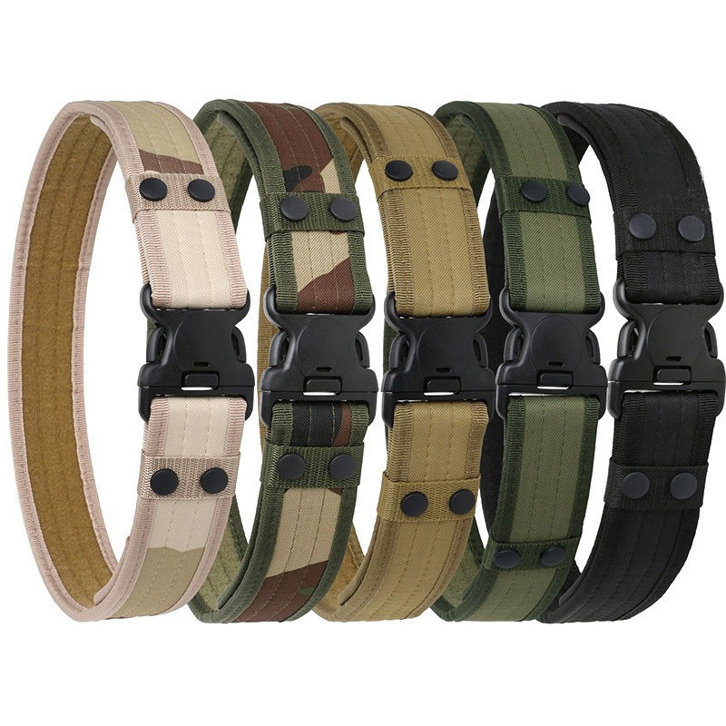 Soft Canvas Webbing Belt Plastic Buckle Military Waistband Quick Release Fashion