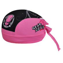 GEAR DEVIL Pink Women's Cycling Bicycle Bike Sweat Proof Hat Headband Riding Outdoor Sports Pirate Cap Scarf