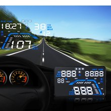 Q7 HUD 5.5 inch Car GPS Head Up Display Windscreen Projector Vehicle Speed Warning Fuel Consumption Car Driving Data Diagnosis