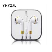 New Original earphone For Samsung iPhone 4S 5 5S 6 6S iPodIPAD Earphone Earbuds audifonos With Mic fone de ouvido