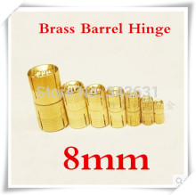 20pcs 8mm Brass Barrel Hinge Cylindrical Hidden Cabinet Hinges Concealed Invisible Mortise Mount Hinge